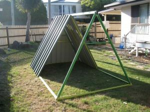 Front view of the A-Frame
